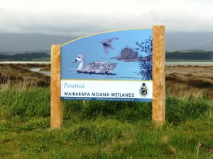 Pounui Wetlands sign